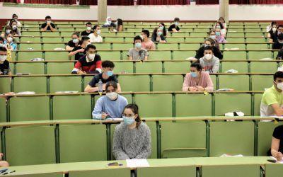 En total, 212 alumnos de 2º de Bachillerato cierran el curso con la EBAU